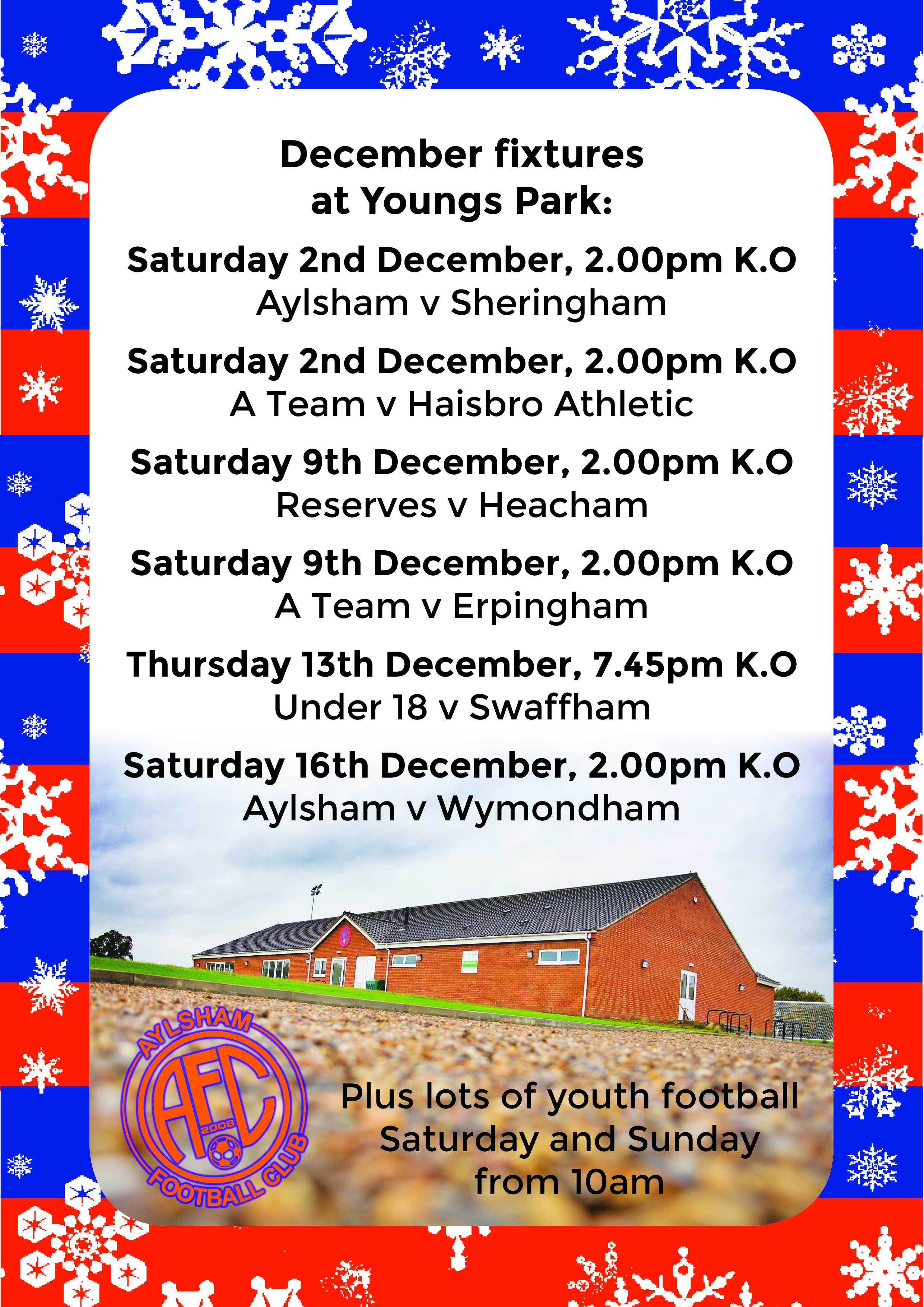 Next fixtures at Youngs Park